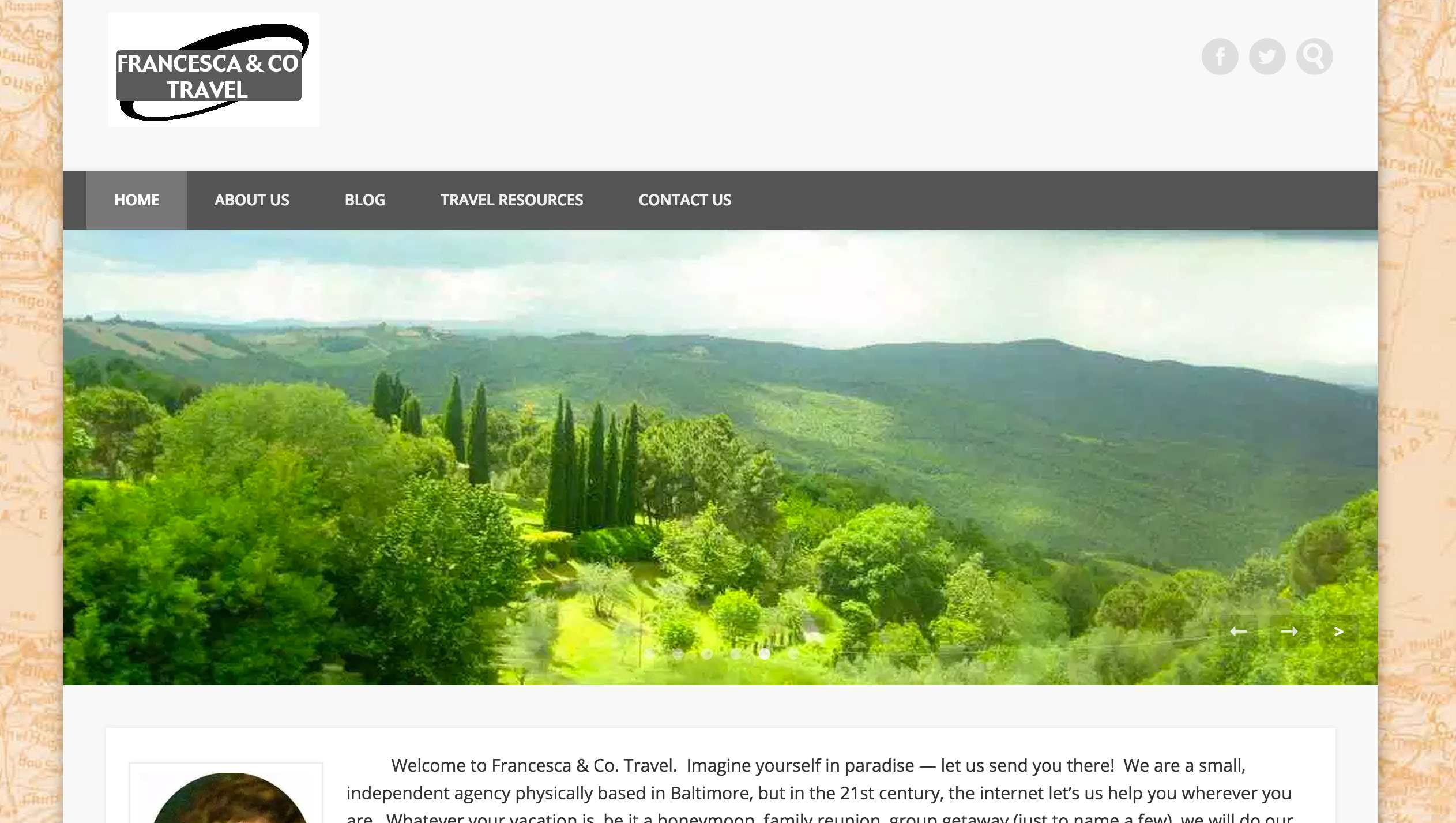 Francesca & Co. Travel Website