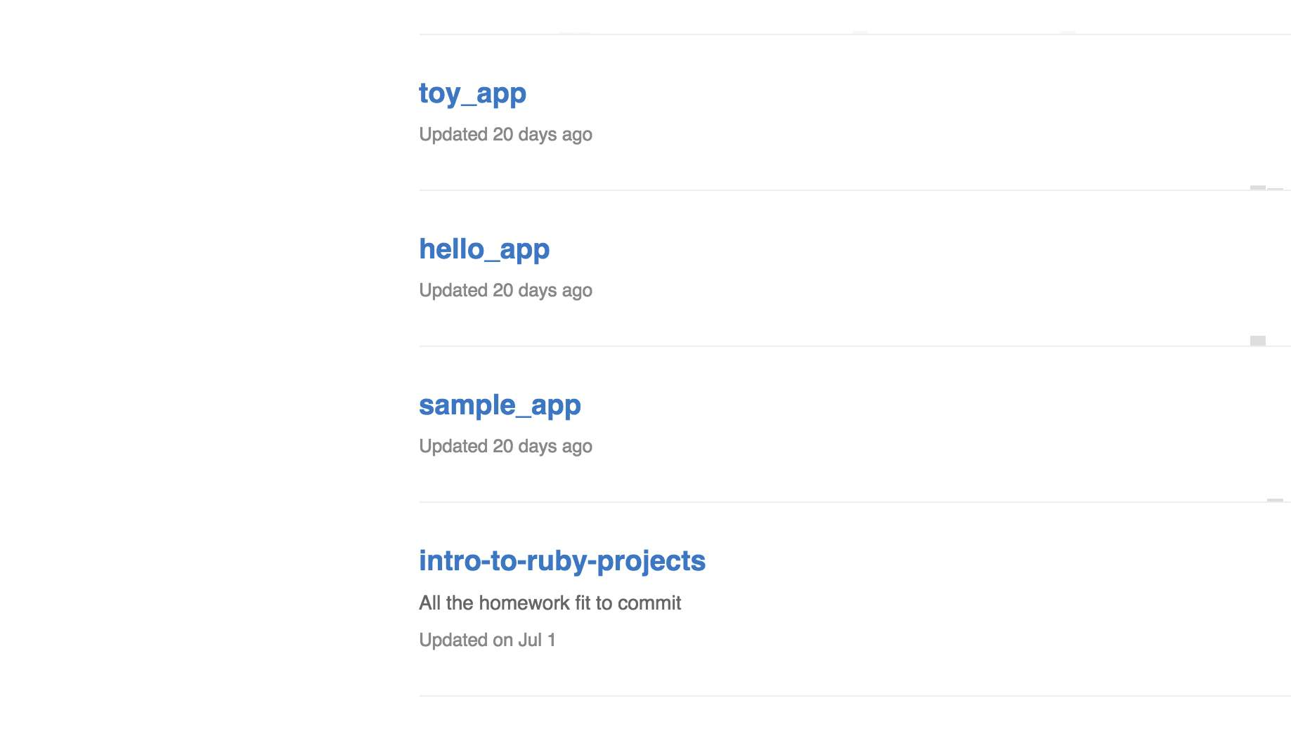 Ruby on Rails Projects
